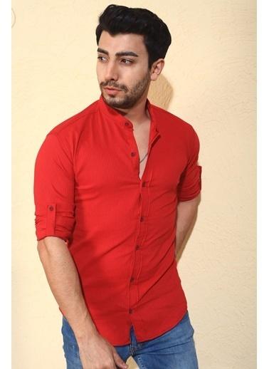Oksit Gömlek Kırmızı